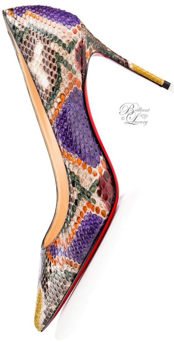 Brilliant Luxury by Emmy DE ♦Christian Louboutin Decollete 554 Python Palette …