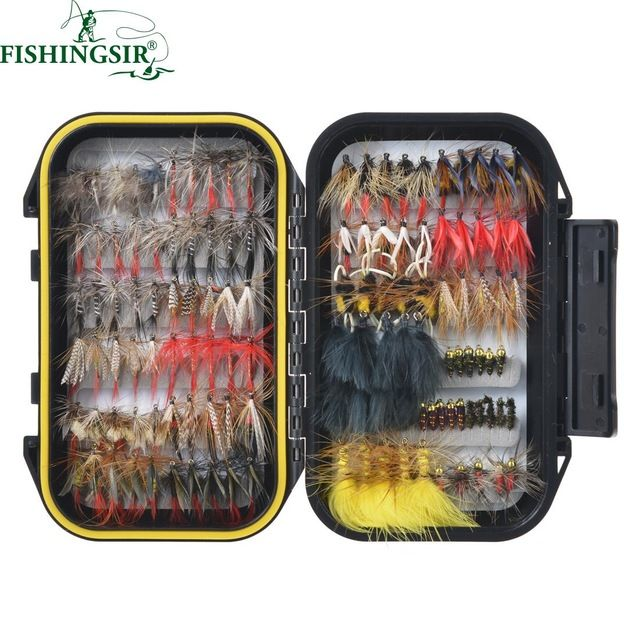 excellent pcs fly tying material fly fishing lure drywet flies with fly cuisine 3d. Black Bedroom Furniture Sets. Home Design Ideas