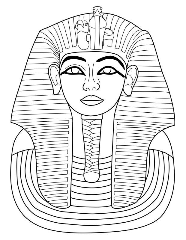 Coloriage A Imprimer Egypte Antique.Toutankhamon Egypte Art Egyptien Activites D Egypte