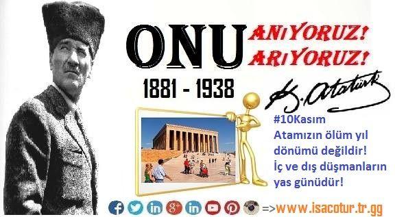 #10Kasım  Atamızın ölüm yıl dönümü değildir! İç ve dış düşmanların yas günüdür. #BenimiçinAtatürk #Anıtkabirdeyiz #TurkeyHomeOfAtatürk