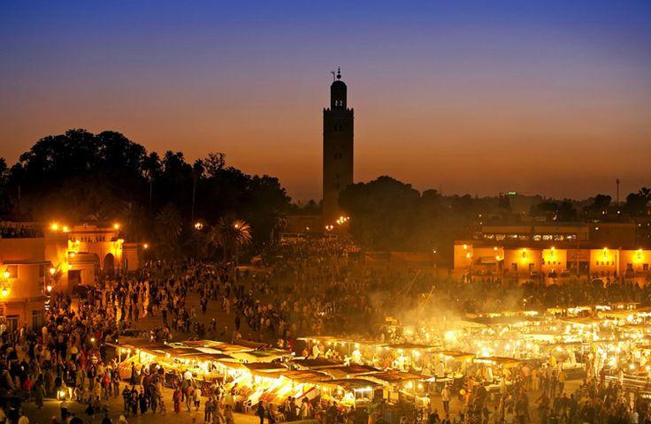 #nighttime #lights #marrakech #morocco #market #jemaaelfna