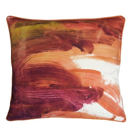 Kevin O'Brien Fingerpaint Pillow I: Paintings Mango, Kevin O' Brien, Fingers Paintings, Fingerpaint Inspiration Design, Paintings Pillows, Throw Pillows, Decor Pillows, Fingerpaint Pillows, Bedrooms Ideas