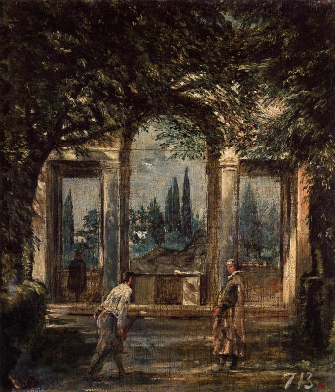 The Gardens of the Villa Medici in Rome, 1630 Diego Velazquez