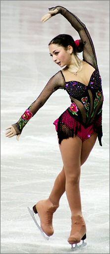 "Elene Gedevanishvili,  European Figure Skating Championships 2007, FS ""Flamenco Fantasia""."