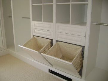 Traditional Storage & Closets Design Ideas, Pictures, Remodel and Decor - smarte skittentøyskurver