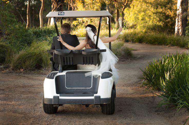 A buggy ride for the newlyweds :)
