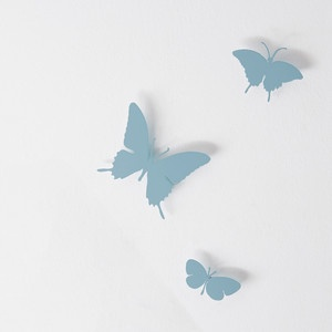 Butterfly Set Of 3 Sky Blue, $65, now featured on Fab.