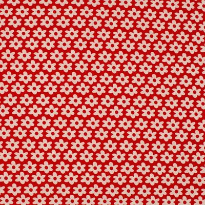 Poplin - Daisy Red