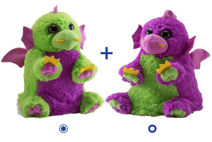 Huff and Puff, With shiny wings and brightly colored fur, this magical dragon duo is sure to inspire flights of fantasy and imagination. Together along with their BFFs, Sparkle  and Rocky,  these animals bring fantasy and mystery to all corners of the Land of Rooz. $12.99  #ShelburneCountryStore - #SwitchARooz #Dragons Huff and Puff, (http://www.shelburnecountrystore.com/switch-a-rooz-dragons-huff-and-puff/)