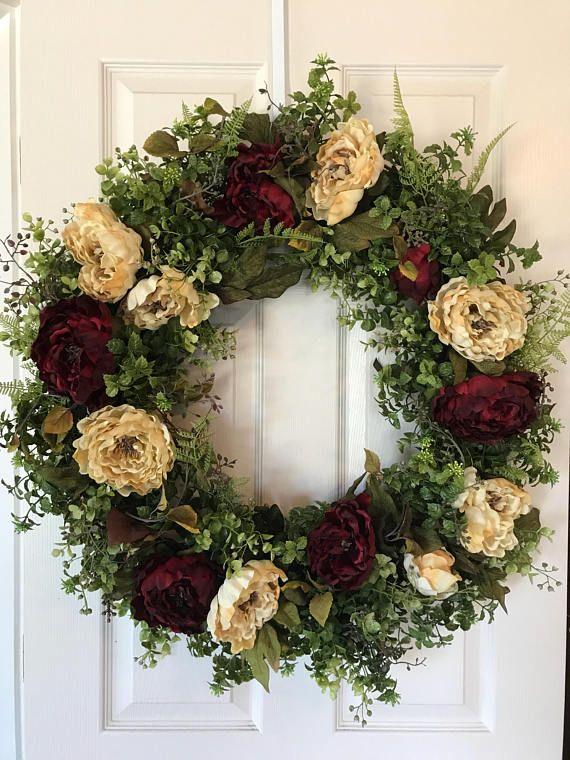FRONT DOOR WREATHPeony WreathFall WreathSummer
