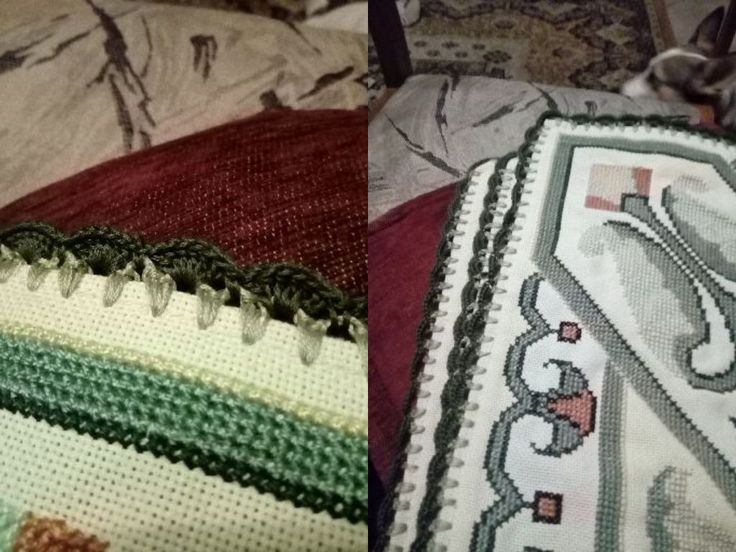 crochet edging at tablecloth