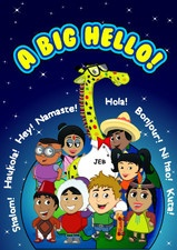 """A BIG HELLO => Great book about our little world.  say """"HI"""" in 8 different languages. My younger son loves this (I can understand why. I mean look at the pictures).... ."""