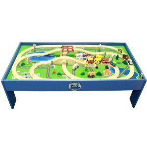 Amazon.com: Conductor Carl 80 Piece Train Table and Playboard Set. 100% Compatible with Thomas the Train and Brio. Plus FREE Conductor Carl Train.: Toys & Games
