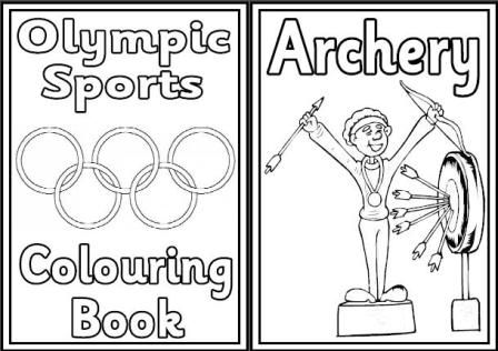 Free Olympic Games colouring book.   24 pages showing sports that are included in the 2012 Olympic Games.