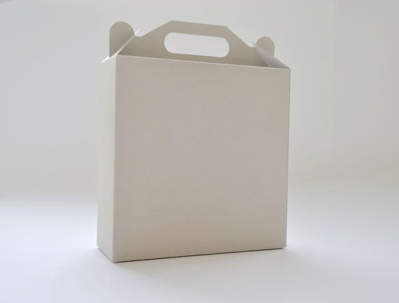 12 White Gray or Kraft Gable Boxes I Large size by FunkyBoxStudio, $14.90