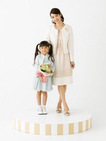 春色コーデで優しい印象に♡入園式 スーツコーデ