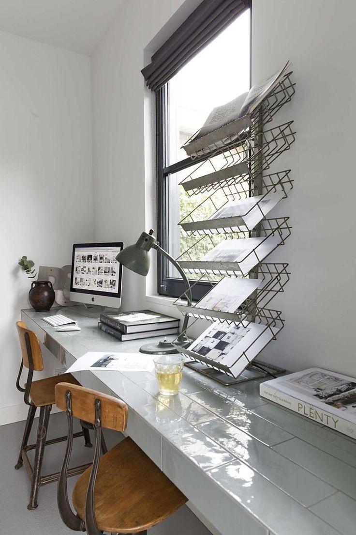 #desktop #workspace with #tiles #desk Photography by Jansje Klazinga for #vtwonen, styling Frans Uyterlinde