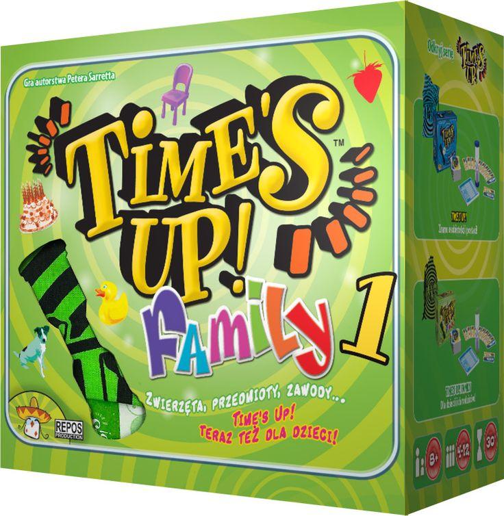 Time's Up dla całej rodziny!. Time's Up Family jest grą rodzinną, która zapewni dobrą zabawę wszystkim, zarówno dużym jaki i małym. W rozgrywce, trwającej trzy rundy, uczestniczą co najmniej dwie drużyny, których celem jest odgadnięcie nazw przedmiotów, zwierząt oraz zawodów. Wygrywa drużyna, która po trzech rundach zgromadzi najwięcej punktów.      Zbierz przyjaciół, rodzinę czy kumpli...