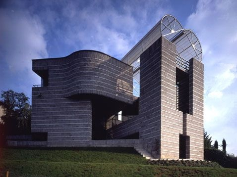 House in Breganzona, Ticino, Switzerland,1984-1988 by Mario Botta