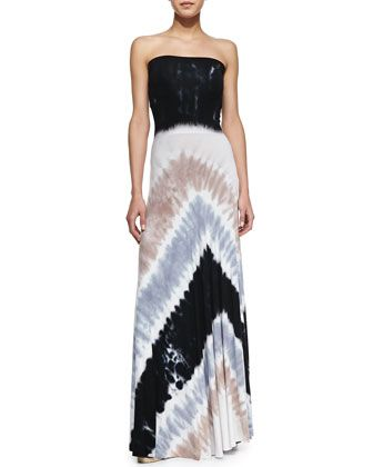 Bangal Strapless Maxi Tie-Dye Dress by Young Fabulous and Broke at Neiman Marcus.