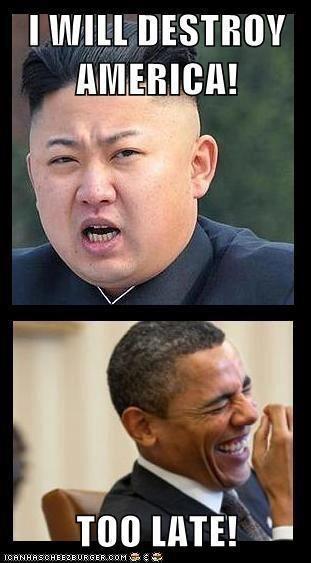 north korea obama destroy america Obama is a socialist democrats