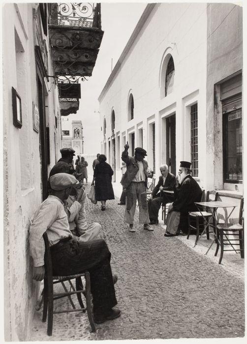[Main street, Phira, Santorini, Greece]-David Seymour,1951