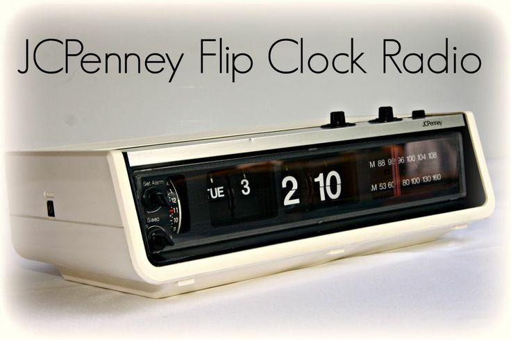 Vintage Digimatic Mcm Jcpenney Am Fm Flip Clock Radio