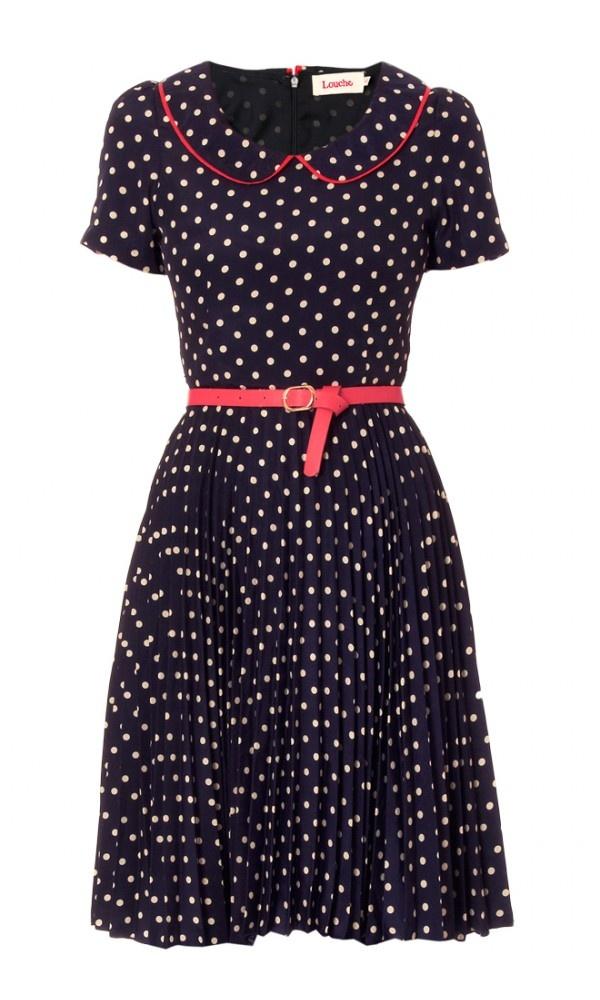 Spot Collar Dress