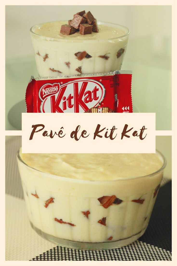 Saiba como fazer esse Maravilhoso Pave de kit kat