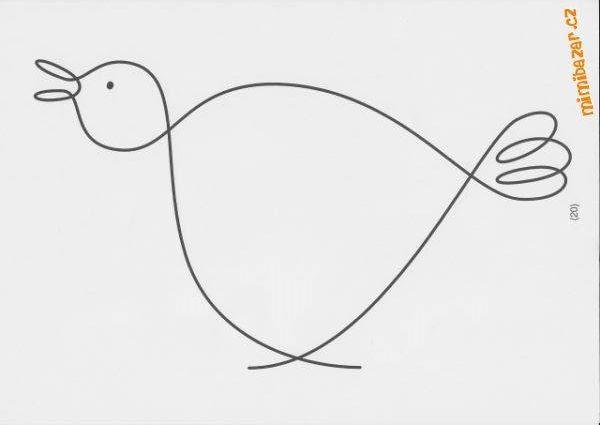 kuře - jedním tahem