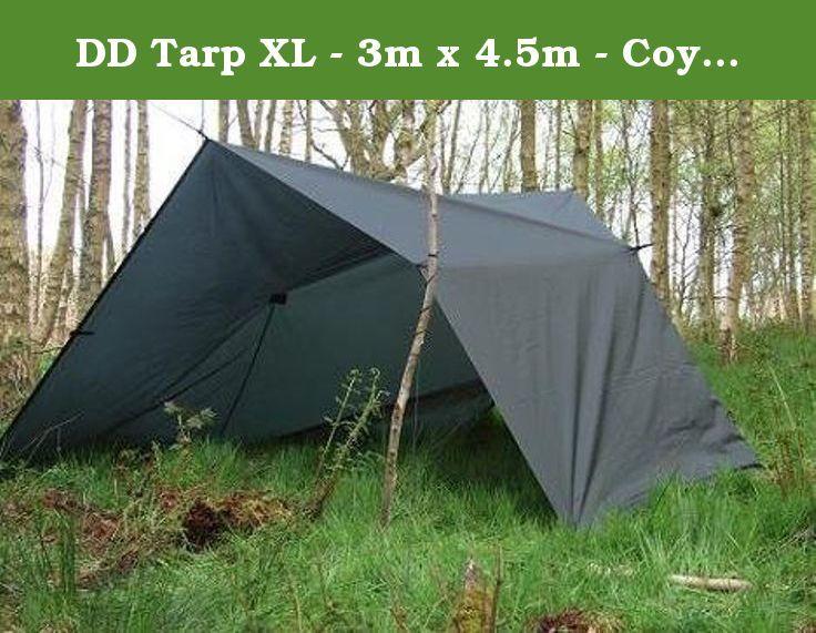 DD Tarp XL - 3m x 4.5m - Coyote Brown - Lightweight, Tough & Large Tarp/ Basha - multiple set-up options! by DD Hammocks.