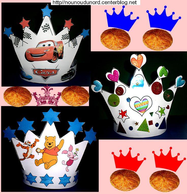 Nos couronnes des rois pour l'épiphanie à imprimer sur mon blog http://nounoudunord.centerblog.net/4218-nos-couronnes-et-notre-gouter-de-epiphanie