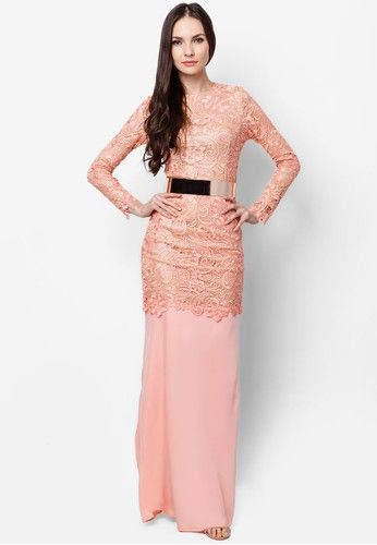 Family Attire Idea. Keep: Peach lining. Change: Grey lace and Rose Gold belt.