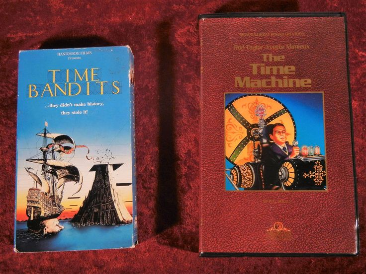 Double Feature Time Bandits and The Time Machine (VHS) Time Travel Sci Fi