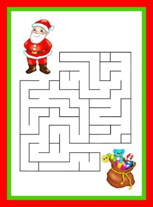 Printable Christmas Maze Game For Kids- jax loves mazes! :)
