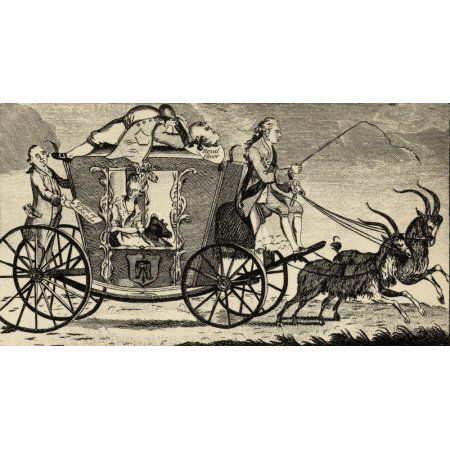 The New Vis A Vis Or Florizel Driving Perdita From The Ramblers Magazine August 1783 A Contemporary Satirical Cartoon Concerning Florizel The Prince Of Wales And His Lover Perdita Mrs Mary Robinson Ca