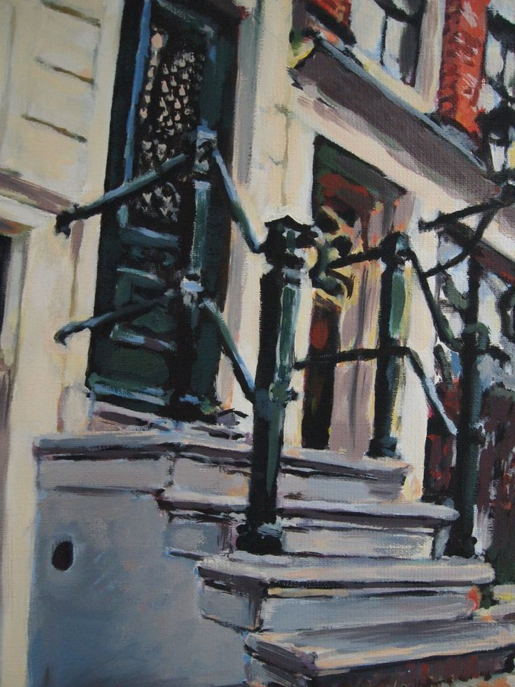 Anne Eijsten - 2014 - Stairs to a house on Prinsengracht. The workmans canal. The houses were built in around 1650.