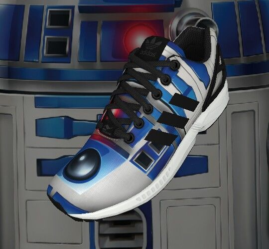Created by the My Zx Flux app. For all those Star Wars fans, R2-D2 themed Adidas Zx Flux