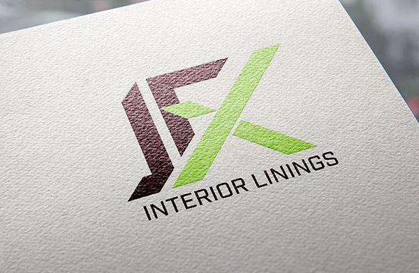 JFX Interior Linings - plastering contractor logo design by RebeccaJ Graphic Designs