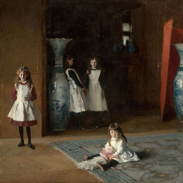 """John Singer Sargent """"Córki Edwarda Darleya Boita"""", 1882, olej na płótnie, 221,93 × 222,57cm, Museum og Fine Arts w Bostonie, fot. www.mfa.org"""
