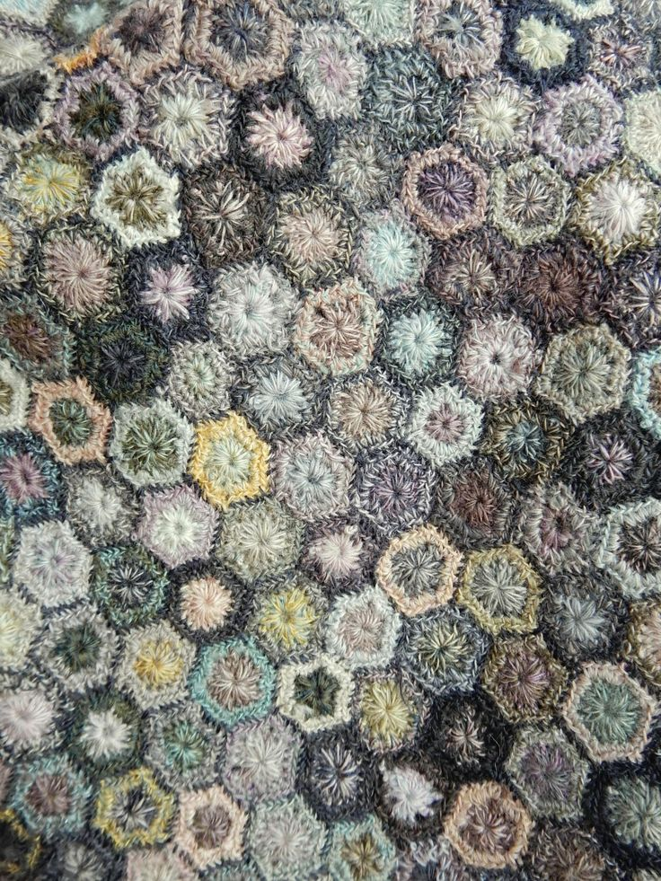 """""""Hexagones Lilliput"""" scarf 
