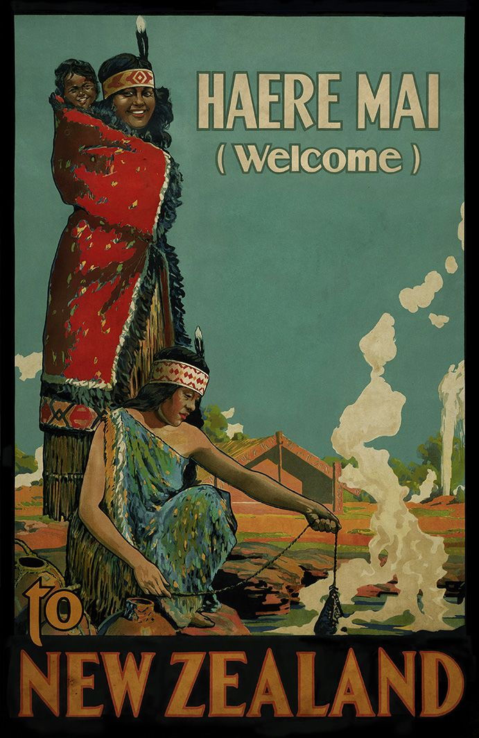 Haere Mai - Welcome to New Zealand. Reproductions available from www.imagevault.co.nz