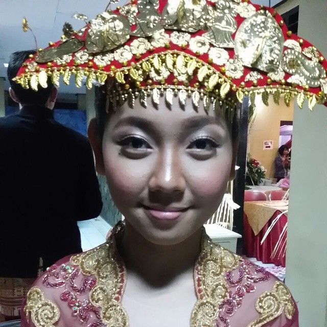 Makeup by me (zeffazetira) for traditional bridesmaid