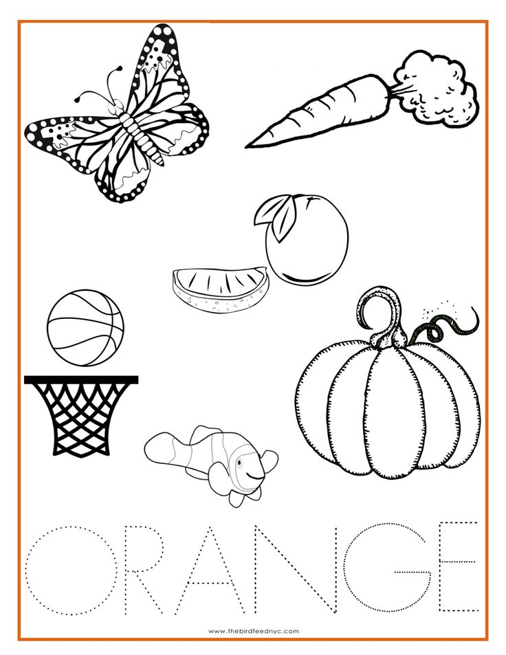 orange color activity sheet repinned by totetudecom - Color Activity For Preschool