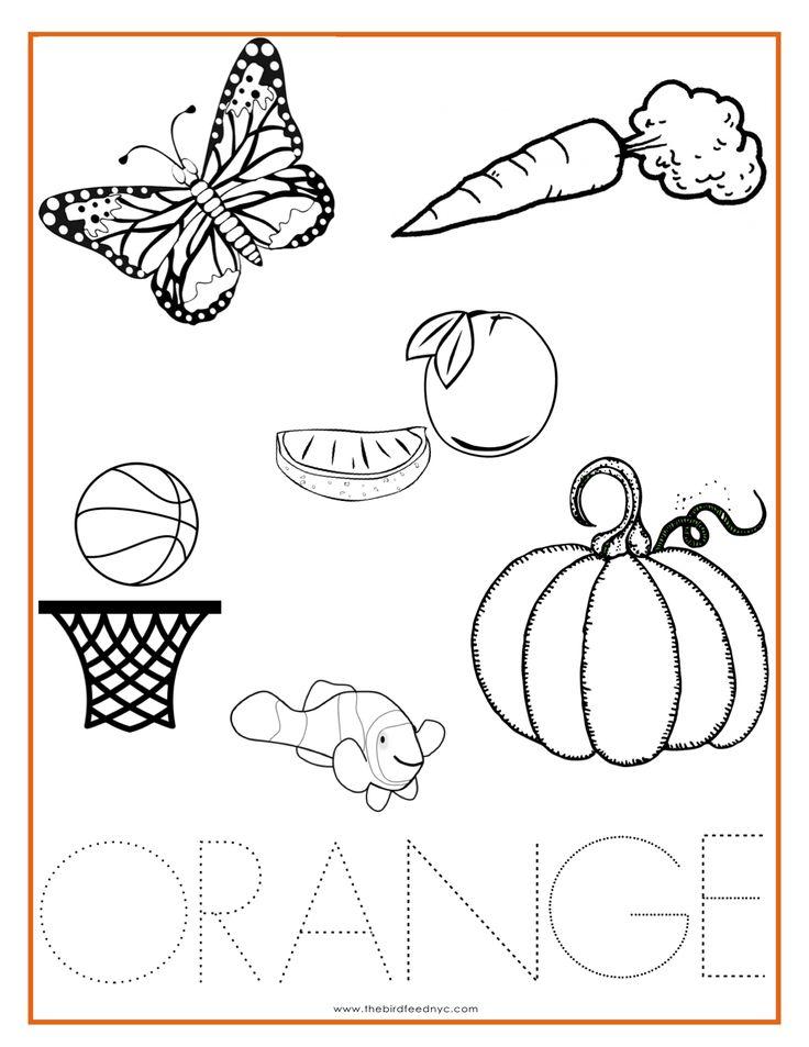 Color orange coloring pages