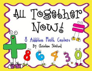 8 Hands-On Addition Math Centers