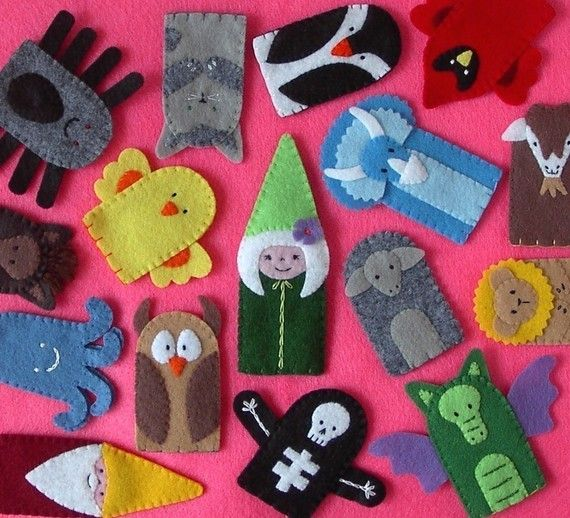 Pre-made Finger Puppets $40 for 10 finger puppets - Adorable! (Sheep-love-ewe, puppy, pig, penguin, panda, mouse-white, octopus-baby-blue, monkey, elephant-gray, frog, bee, blue bird, dk brown bear, bunny-white, butterfly-yellow, cat-assorted, chimp, cow, deer, giraffe, goat, hamster, hippo, horse, koala-tan, lady bug, lion, parrot-green, ram)