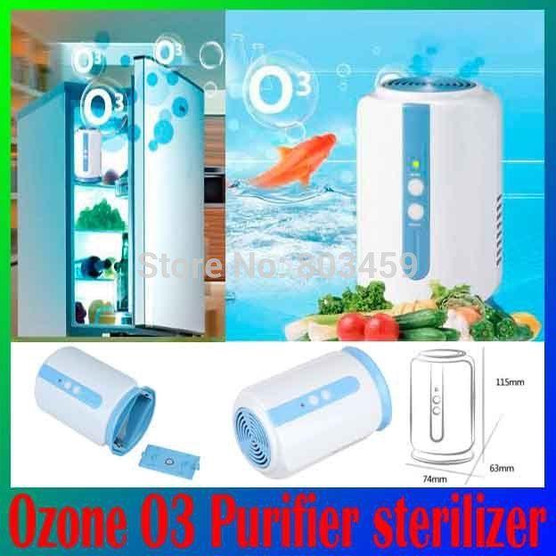 Медицинская холодильник Фрукты Овощи продукты обуви шкаф автомобиль O3 дезинфекции Стерилизатор, озонатор Ионизатор Свежего Воздуха Очиститель