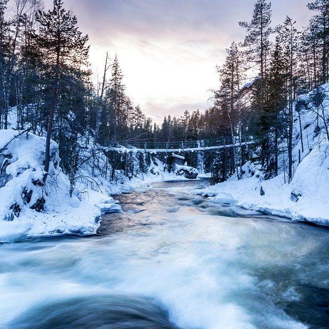 Myllykoski #Finland #Kuusamo #NationalPark #Myllykoski #nature #bridge #water #cottage #longexposure  #Canon #travel