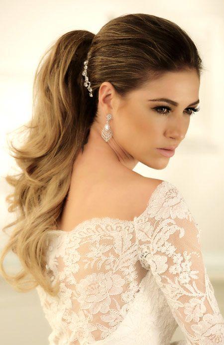 Penteado de noiva - rabo de cavalo ( Beleza: Danilo Toscado da Agência First ) #casamento #noiva #penteado